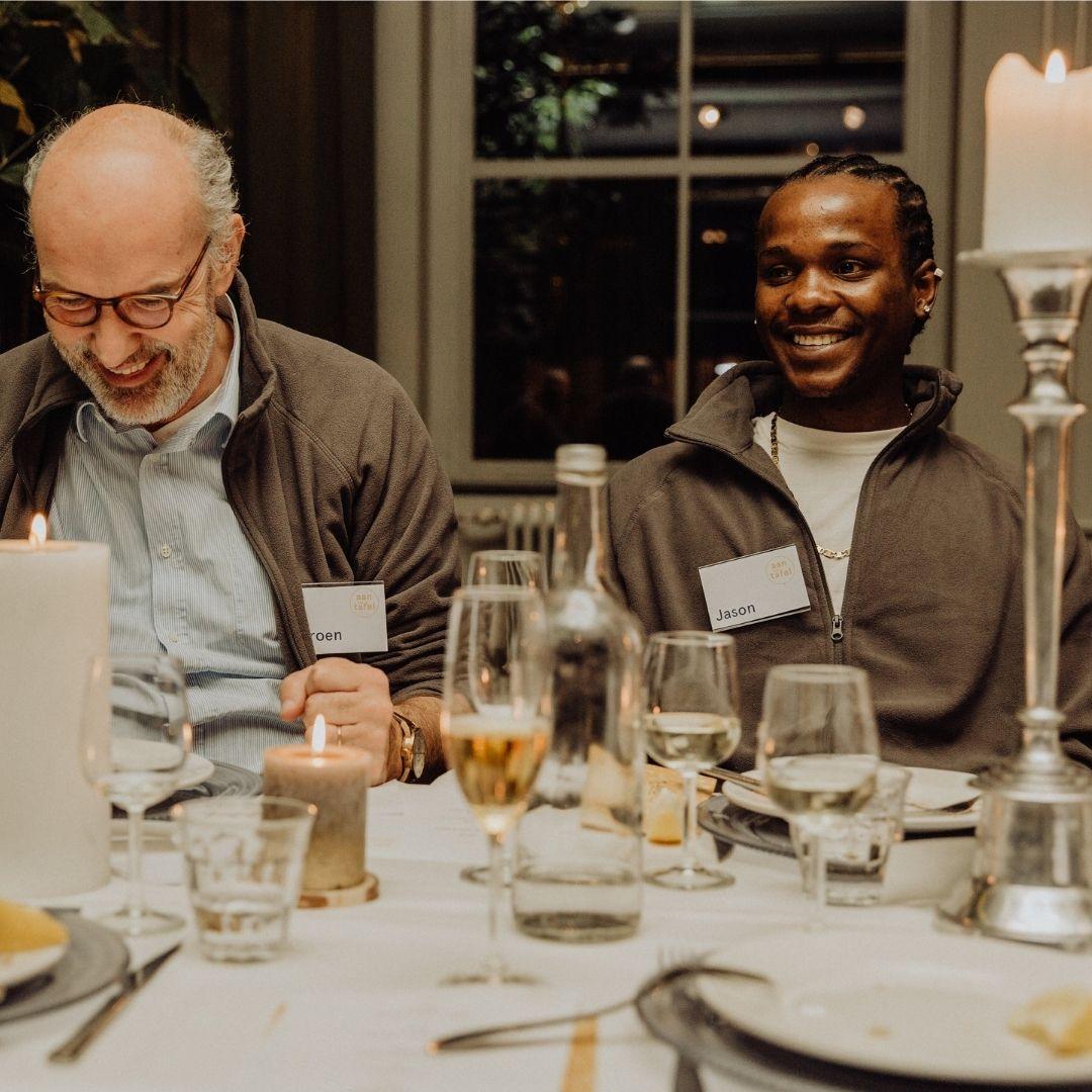 Uniek diner met ondernemers en daklozen